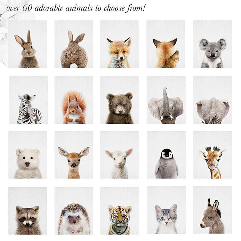 Posters Nordic Animals Canvas Painting