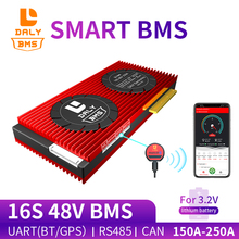 Daly Smart BMS 16S 48V LiFepo4 Battery 150A 200A 250A Bluetooth+485 to USB device +CAN+NTC +UART For Electric Car E-Bike Scooter