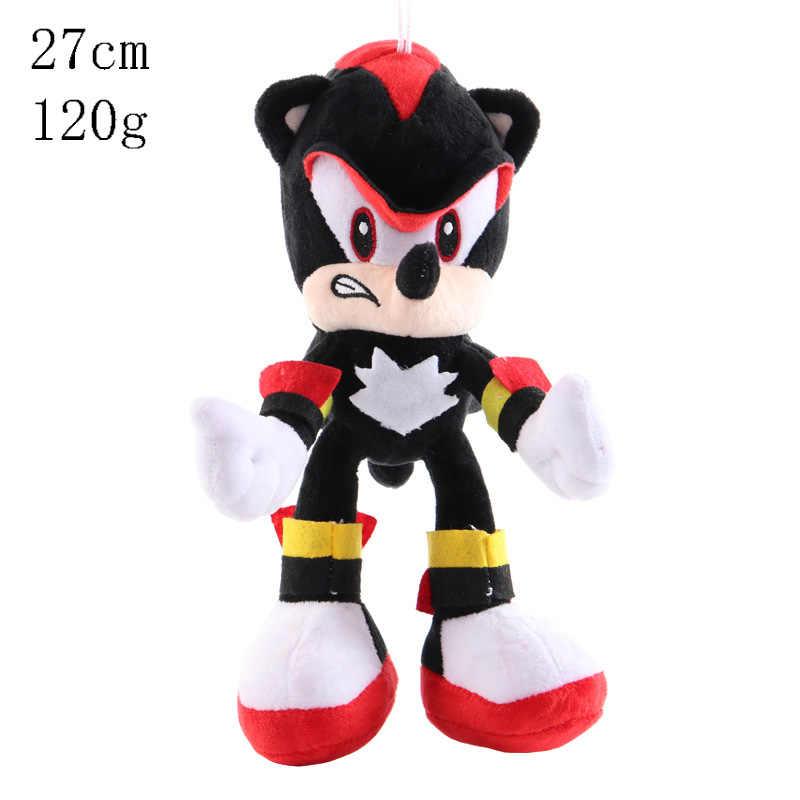 27Cm Sonic Speelgoed Super Sonic The Hedgehog Knuffel Sonic Shadow Knuckles Tails Leuke Soft Gevulde Poppen Sleutelhanger Sleutelhanger