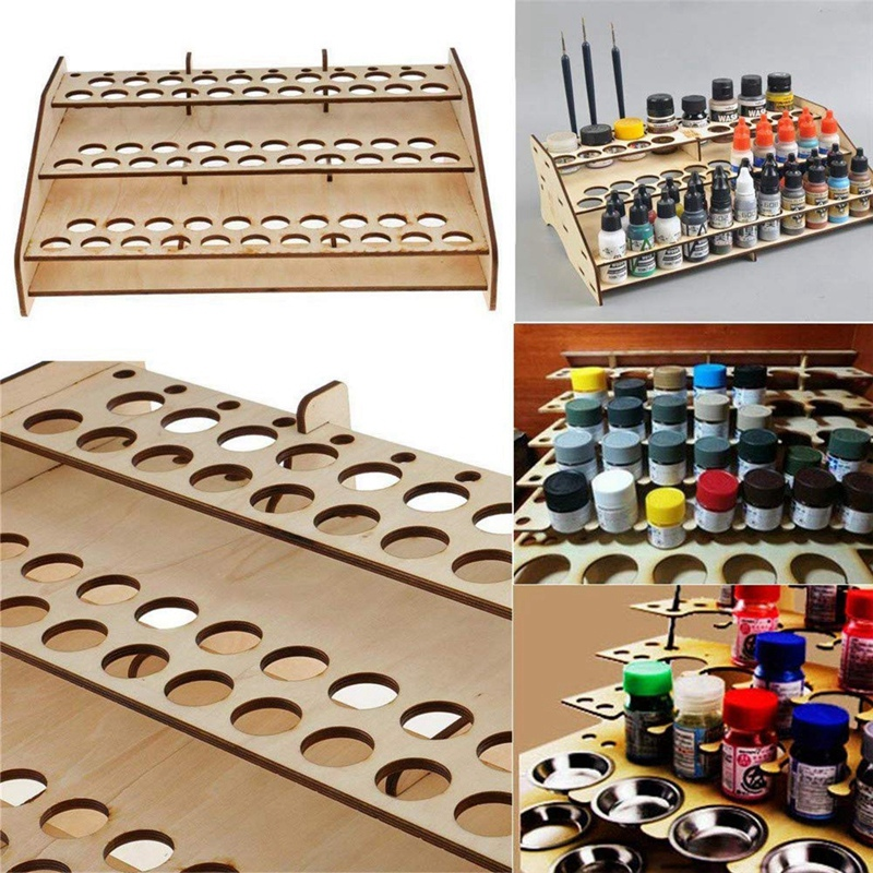 Paint Bottles Rack DIY Paint Brushes Display Rack Storage Stand,Painting Brushes Tray Modular Tool