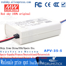 цена на kindly MEAN WELL 6Pack APV-35-5 5V 5A meanwell APV-35 5V 25W Single Output LED Switching Power Supply