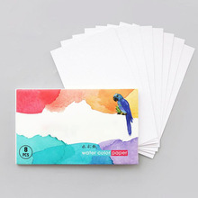 8 Sheets 32K Watercolor Paper Book Portable Painting Writing Sketchbooks For Students Beginner Draft Sketching Watercolor Paper