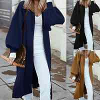 Zanzea 2020 outono mulheres casacos longos casaco feminino casual solto jaquetas moda inverno chaqueta mujer engrossar outwear casaco