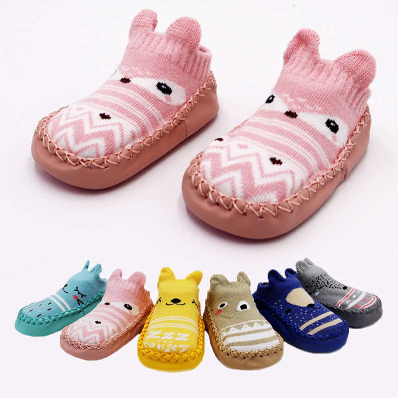 2019 Newborn Spring Autumn Winter Infant Cute Funny Socks Anti Slip Baby Boy Socks With Rubber Soles Baby Girl Cute Socks