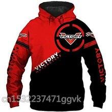 Primavera outono vitória motocicletas hoodies dos homens com capuz topos mais tamanho vitória motocicletas moletom caras jaqueta eua roupas