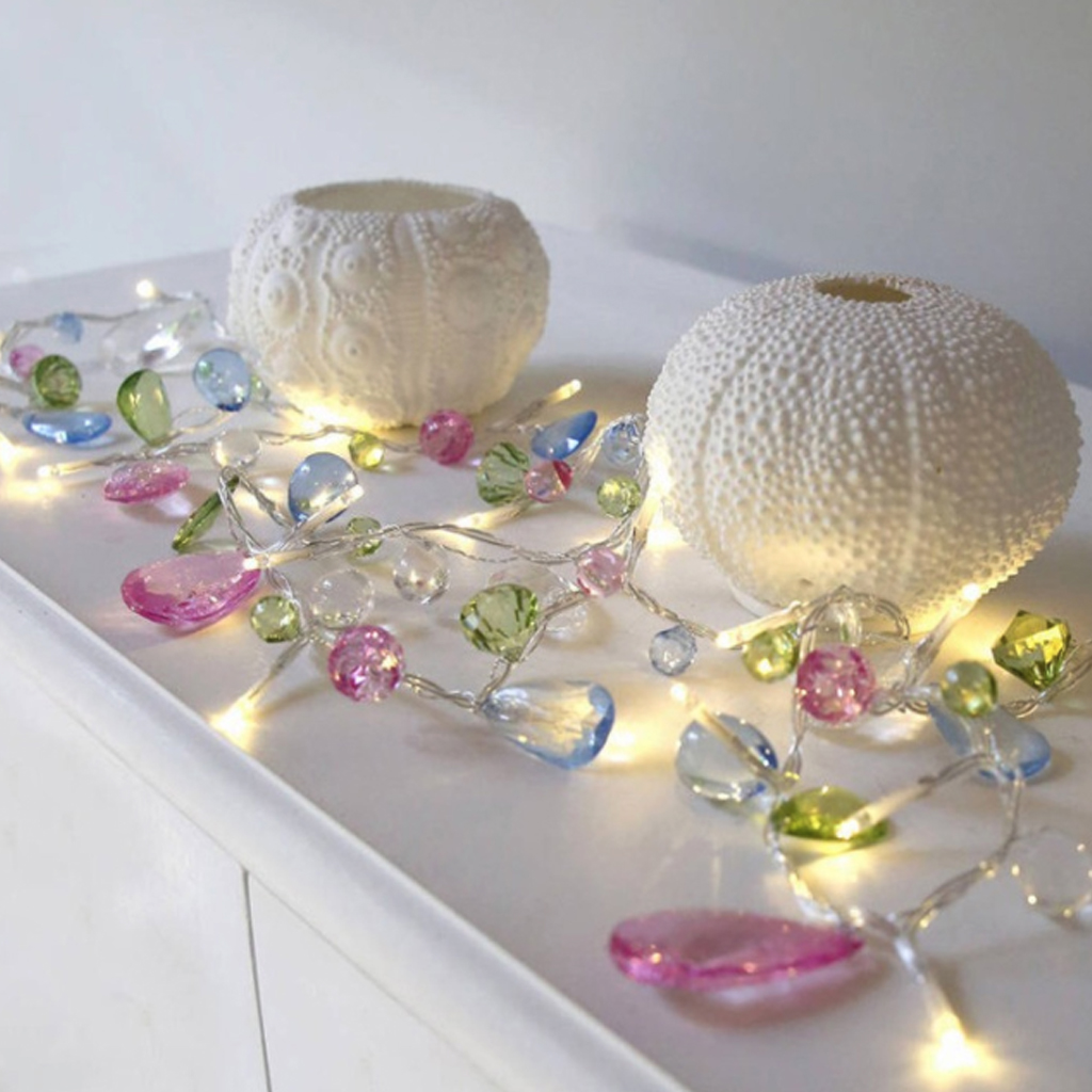String Light  Wedding Crystal String Light Christmas Led Fairy Cute Pink Girl String Light Party Garden Garland Lighting 1.5M
