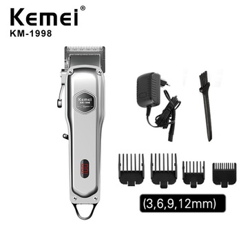 Kemei all-metal professional clipper for barber rechargeable hair trimmer men electric beard shaver hair cutting machine kemei titanium blade professional hair trimmer rechargeable electric hair clipper barber cutting machine shaver razor