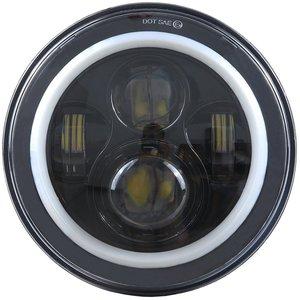 "Image 4 - 7 ""DRL LED H4 إلى H13 UAZ العلوي النهار تشغيل أضواء كشافات خاتم على شكل هالة الملاك العين بدوره إشارة ل Lada 4x4 الحضرية نيفا"