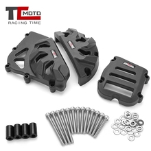 цена на TCMOTO Motorcycle Engine Case Cover Protector Guard Crash Sliders For Benelli BJ600GS BN600 TNT600