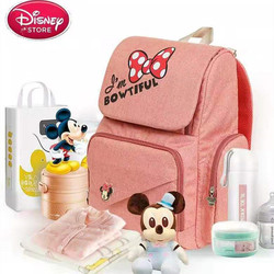 Disney Mickey Minnie Cartoon Bag USB Heating Baby Nappy Nursing Bag Mummy Shoulder s Handbag OutdoorPortable  Diaper Backpack