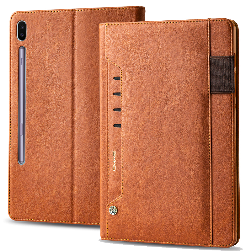 For Samsung Galaxy Tab S6 10.5 Inch T860 Flip Leather Case Business Multifunction Card Stand Smart Cover For Samsung Tab S6 T865