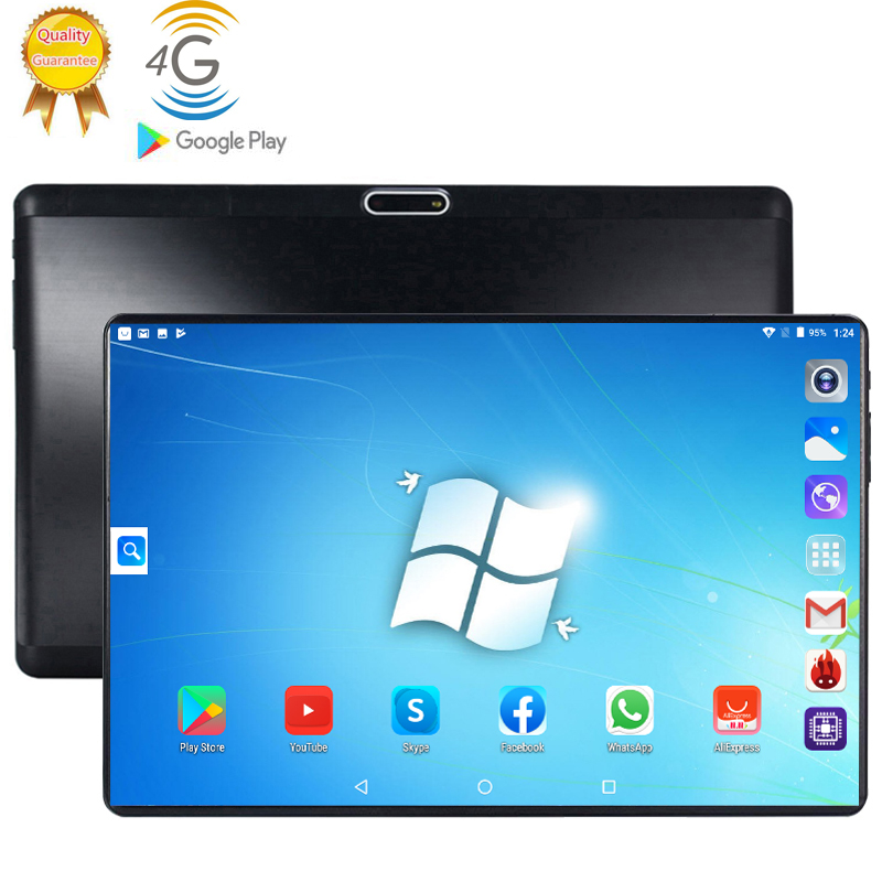 Newest 10 Inch Tablet Pc Octa Core 128GB Tablets Android 9.0 WiFi Bluetooth GPS 3G 4G Phone Call Dual SIM 64GB Tab Tablet Holder