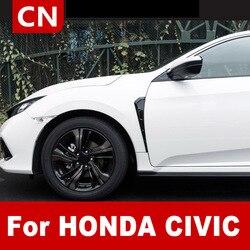 Car Auto Air Outlet Stickers 2PCS Carbon Fiber Tuyere Moulding Trim For Honda Civic 10th Gen Decor Car Exterior Accessories