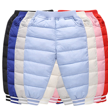 Kids pants Cotton Padded Fall Toddler Trousers Waterproof Boy Winter Pants Girl Children Clothes For