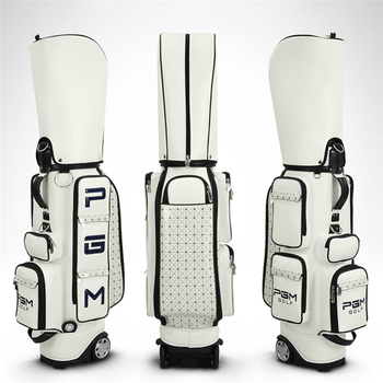 Brand PGM Genuine Golf Bag Standard Package Pulley Professional Leather PU Waterproof Golf Cart Club Bag Women and Men Bag Cover
