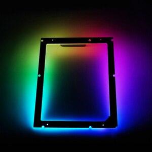 Ordenador de sobremesa con luz trasera ATX de 5V para el hogar sincronización fácil de instalar, luz trasera de plano, caja de PC, gabinete de oficina decorativo