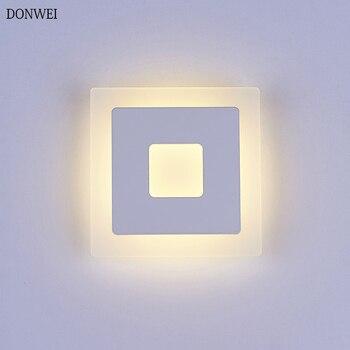 18 Вт светодиодный настенный светильник Акриловая поверхностное крепление квадратная комнатная настенная лампа для кухни коридора спальня...