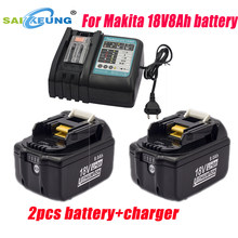 Replace Makita 18V professional battery 8.0Ah, compatible with BL1860 1850 1820 1835 1815 1840 18V8000mah lithium battery pack