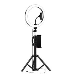 10Inch Ring Light with Tripod Stand for IPad Photography Studio Video LED Ring Lamp 5600K with USB Plug for Makeup