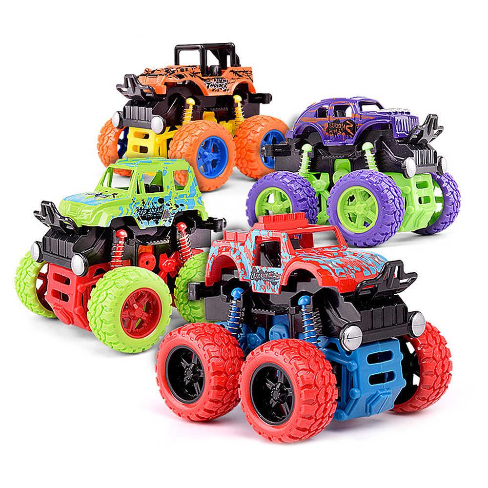 Mini Inertial Diputar Mobil Mainan untuk Anak Laki-laki Bayi Friction Resistance Roda Empat Kendaraan Off-Road Diecast Model Inertial mainan Mobil