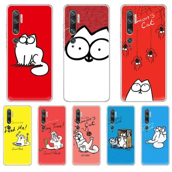lovely Simons Cat tpu 3D funda Etui Transparent Phone Case cover hull For XIAOMI mi 3 4 5 5X 8 9 10 se max pro a2 9T note lite image