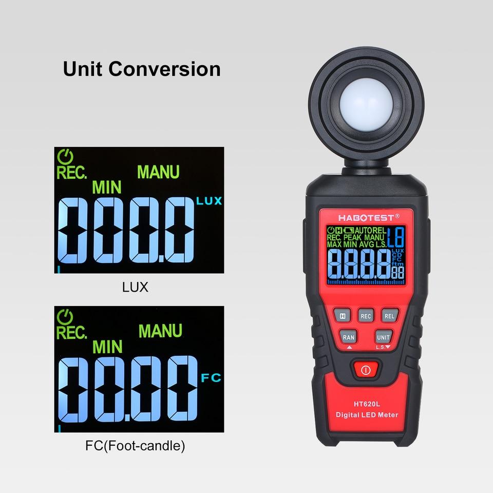 medidor de luz port/átil de mano Wt81 con pantalla LCD para medir la iluminaci/ón y el brillo en las rutas de transporte Lux/ómetro