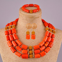 african jewelry set nigerian wedding coral necklace set coral beads jewellery sets for women