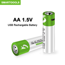 Оригинальные USB AA перезаряжаемые батареи 1,5 в 2600 МВт-ч литий-ионная батарея для пульта дистанционного управления, батарея для игрушек для мы...