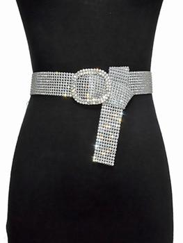 120CM Brilliant Women's Belt Waist Chain Full Rhinestone Crystal Belt Luxury Large Party Waist Belt for 2020 Fashion 1