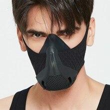 Sport treningowy maska 4.0 styl czarna duża wysokość szkolenia wyposażony jest w 25 poziomów oporu regulowana