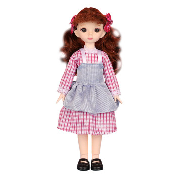 New 30CM BJD Doll 25 Movable Joint 1/6 Cute Girl Makeup Dress Up The Whole Set Of Clothes To Give The Child The Best Gift Toy недорого
