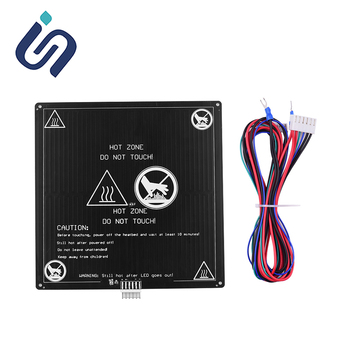 Anet A6 A8 Heated Bed 12V MK3 3D Printer Heatbed 220*220mm/300*300mm E10 E12 E16 ET4 3D Printer Hotbed DIY Parts image