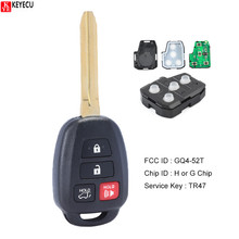 KEYECU GQ4 52T KYDZ Replacement Keyless Entry Remote Car Key Fob for Toyota Rav4 2013 2018 With H Chip Or G Chip GQ452T