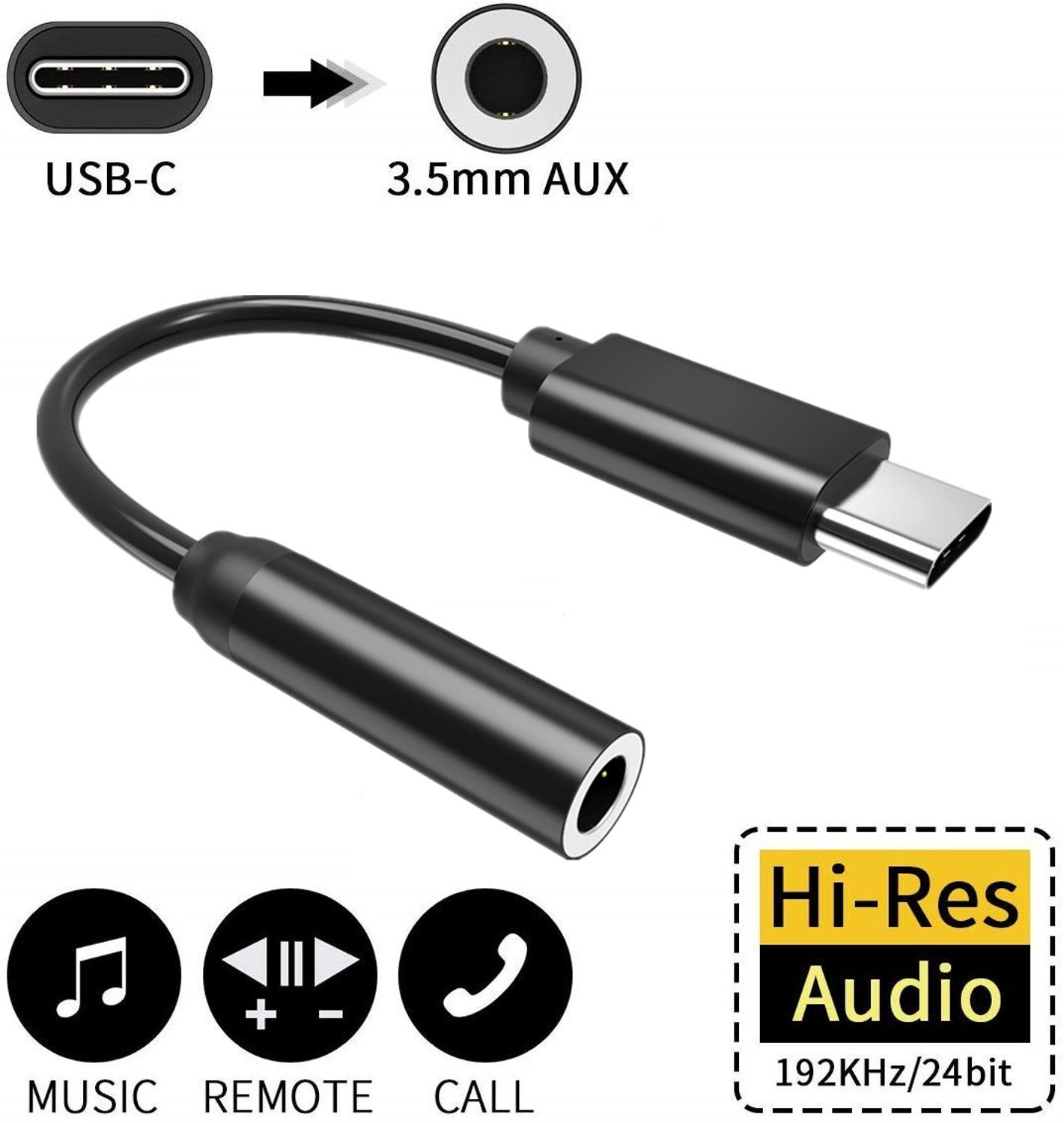 USB Type C To 3.5 Mm Headphone Jack Adaptor For Samsung Note 10 Huawei P30 P20 Pro Mate 10 Pro Xiaomi Mi 8/Mix 3,Google Pixel 3