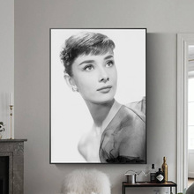 Audrey Hepburn Potrait Canvas Painting Wall Art Modular Pictures  Makeup Poster and Prints for Licing Room Decor