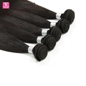 Image 5 - Индийские прямые волосы DreamDiana, 3/4 пучков, 8 30 дюймов, пряди плетеных волос без повреждений, натуральный цвет, 100% человеческие волосы для наращивания, низкое соотношение