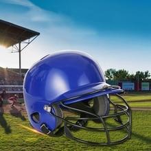 Бейсбольный шлем бейсбольный ватин шлем Софтбол компактная маска двойная плотность ударная-для взрослых