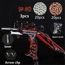 цена на powerful Elastic Hunting Fishing Slingshot Shooting Catapult Bow Arrow Rest Bow Laser Catapult Crossbow Bolt Shooting Fish