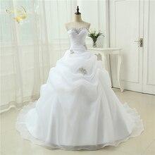 뜨거운 판매 새로운 도착 Vestido 드 Noiva 라인 신부 드레스 구슬 화이트 아이 보 리 웨딩 드레스 2020 로브 드 Mariage Casamento OW3199