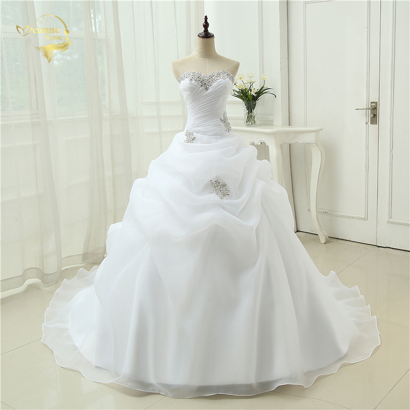Hot Sale New Arrival Vestido De Noiva A Line Bridal Gown Beading White Ivory Wedding Dress 2019 Robe De Mariage Casamento OW3199