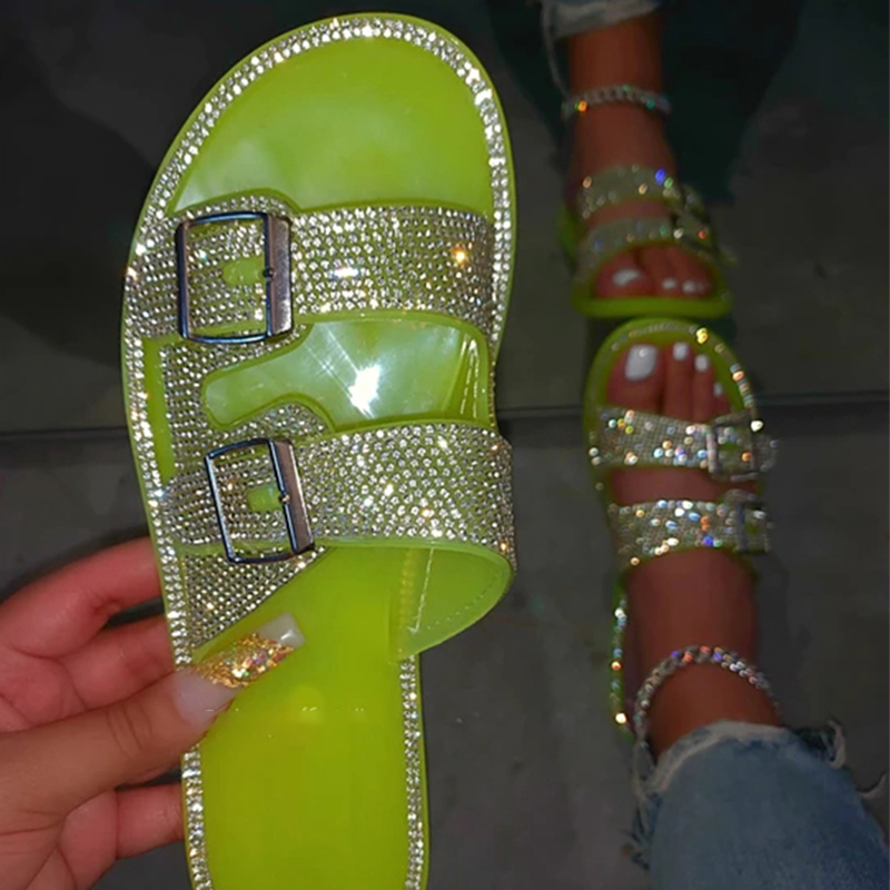Woman Bling Slippers Women Casual Outdoor Slides Female Fashion Flats Women s Comfort Footwear Ladies Beach