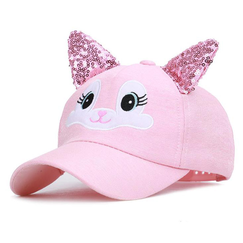 Doitbest Spring Child Baseball Cap 2 To 8 Years Old Sequin Ears Summer Hip Hop Kids Hats Boys Girls Caps Snapback Hat