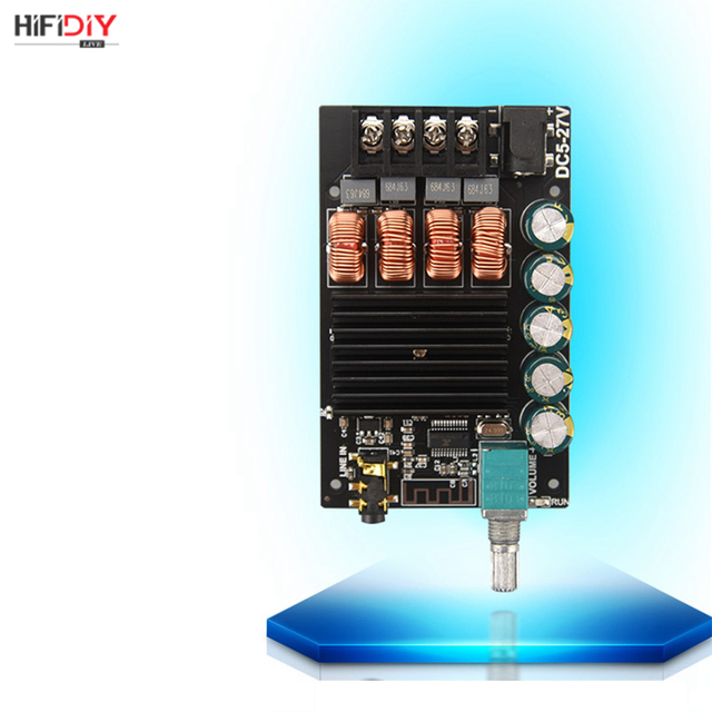 HIFIDIY LIVE Bluetooth 5.0 AUX TPA3116 Digital Power Amplifier board 2x 50W 100W speaker Stereo Audio AMP Module Home music 1002 6