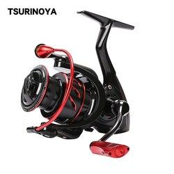 TSURINOYA Spinning Fishing Reel WHIRLWING 800 1000 2000 11kg Drag Power  8+1 5.2:1 Saltwater Ajing Bass Pike Fishing Lure Wheel