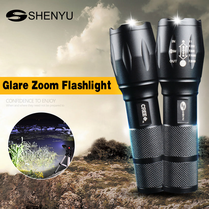 Led Flashlight High Power Rechargeable Flashlights Xml T6 Torch Powerful 18650 Battery Lantern Tactical Flashlight Hunting Lamp