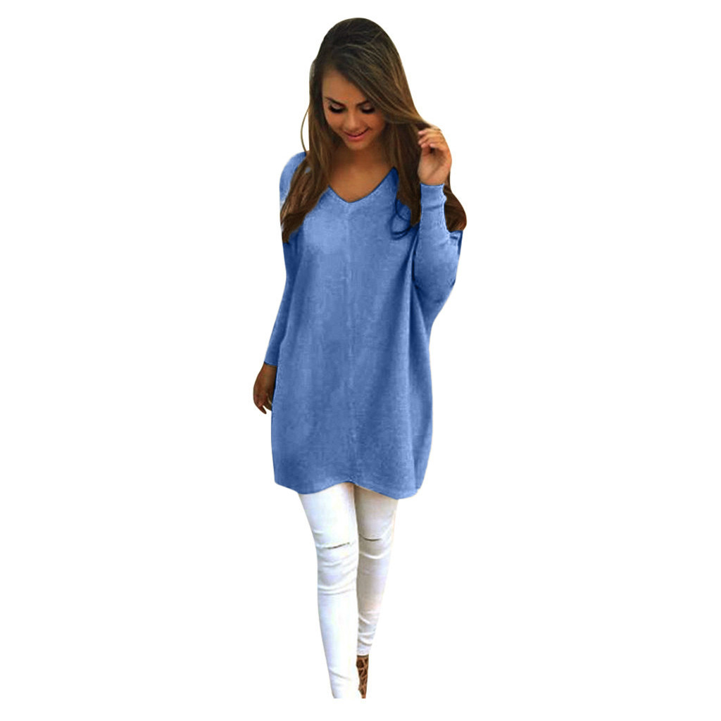 Women Long Sweaters Dress Wild Sexy Loose Knitted Pullovers Winter Female Long Sleeve Thick Jumper Tops Pregnant Warm Knitwear