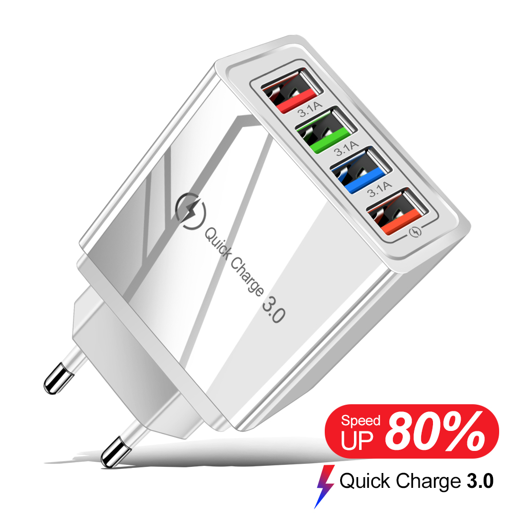Quick Charge 3.0 EU/US Plug USB Charger For Phone Adapter For iPhone 11 Pro XR Tablet Portable Wall Mobile Charger Fast Charging(China)