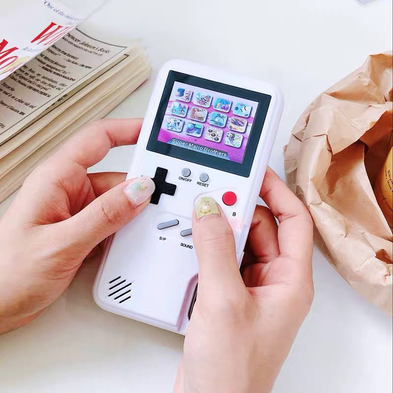 a phone case with playable games