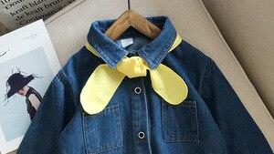 Image 3 - 유머 베어 2019 새 여자 데님 드레스 가을 어린이 옷 소녀 유아 아기 드레스 공주 나비 Chiristmas 파티 드레스