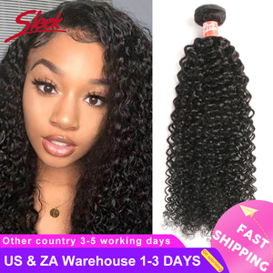 Sleek Indian Kinky Curly 100% Human Hair Weave Bundles 10-30 Inches 1 / 3 / 4 Bundles Hair Extensions Non Remy Free Shipping